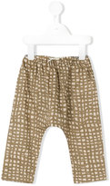 Gold - checked trousers - kids - Cotton - 6 mth