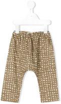 Gold / Toyo Enterprise - checked trousers - kids - Cotton - 6 mth