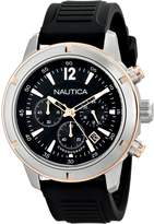 Nautica Men's Nsr 19 N17654G Silicone Quartz Watch