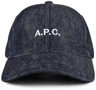 A.P.C. Charlie Baseball Cap in Indigo | FWRD