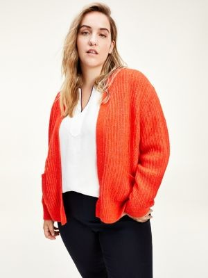 Tommy Hilfiger Curve Rib-Knit Relaxed Fit Cardigan