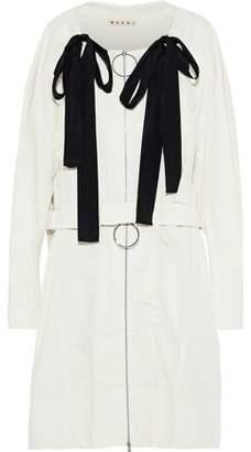 Marni Bow-embellished Cotton-canvas Jacket