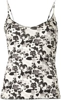 Chanel Pre Owned 2005 Camellia print camisole