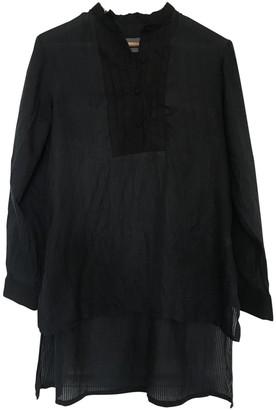 Antipodium Black Cotton Top for Women