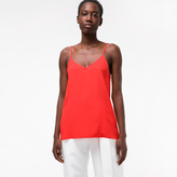 Paul Smith Women's Red Silk-Blend Camisole Top