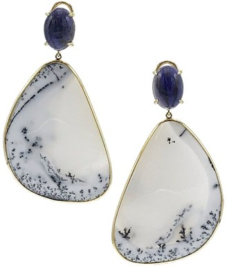 Ippolita Rock Candy 18K Yellow Gold, Iolite & Dendritic Opal Drop Earrings