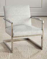Bernhardt Hyder Stainless Steel Accent Chair