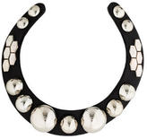 By Malene Birger Leather Stud Collar Necklace