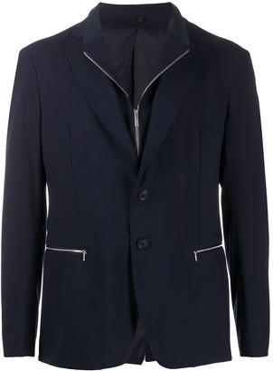 Emporio Armani Zipped Pocket Blazer