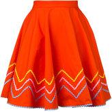 Anna October - zig zag skirt - women - Cotton - XS