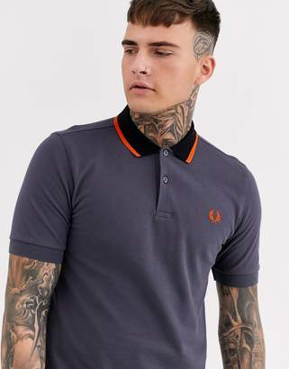 Fred Perry contrast collar polo in grey