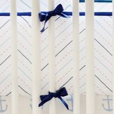 My Baby Sam First Mate Crib Bumper, Blue/Navy/Red/White, 2 Count