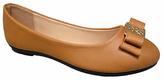 Sabrina Tan Gilded Bow Flat