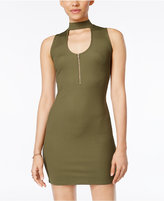 Material Girl Juniors' Cutout Mock-Neck Bodycon Dress, Only at Macy's