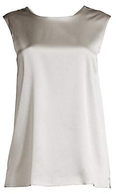 Max Mara Women's Agora Stretch-Silk Sleeveless Shell Top
