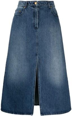 MICHAEL Michael Kors Denim Midi Skirt
