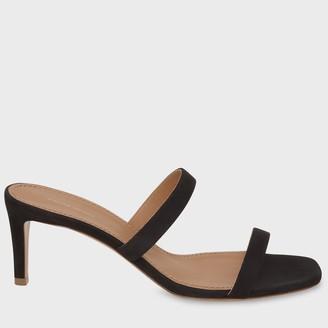 Mansur Gavriel Suede Fino Sandal - Black