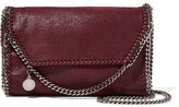 Stella McCartney The Falabella Faux Brushed-leather Shoulder Bag - Burgundy
