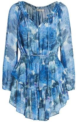 LoveShackFancy Silk Popover Dress