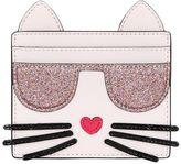 Karl Lagerfeld K Kocktail Cat Faux Leather Card Holder