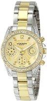 """Akribos XXIV Women's AK710TTG """"Lady"""" Two-Tone Stainless Steel Watch"""