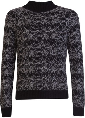 Saint Laurent Stitching Embroidery Sweater