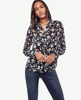 Ann Taylor Magnolia Shirred Blouse