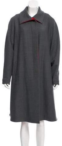 Giorgio Armani Longline Wool-Blend Coat