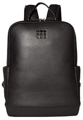 Moleskine Classic Leather Backpack (Black) Backpack Bags