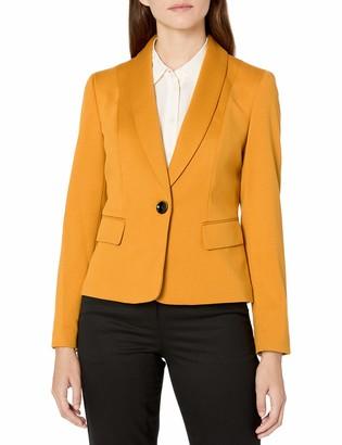Kasper Women's 1 Button Shawl Collar Ponte Jacket