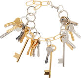Balenciaga Gold and Silver Multi-Key Necklace