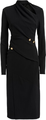Proenza Schouler Button-Detail Crepe Dress