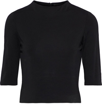 Alice + Olivia Mia Cropped Stretch-jersey Top