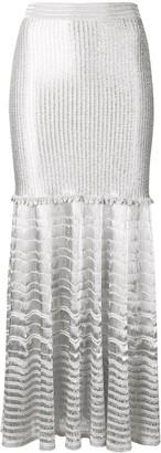 Alexander McQueen Metallic Knitted Skirt