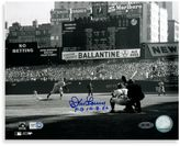 """Bed Bath & Beyond Don Larsen Autographed """"PG 10-8-56"""" First Pitch Autographed 8-Inch x 10-Inch Photograph"""