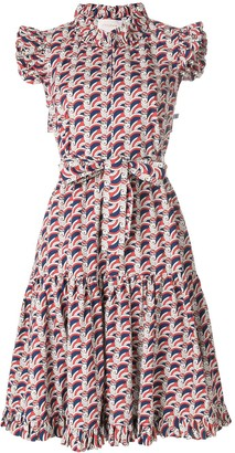 La DoubleJ ruffle print dress