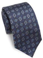 Isaia Diamond Silk Tie