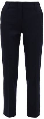 Raey Slim-leg Wool-blend Trousers - Navy