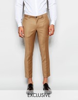 Noak Cropped Flannel Trousers In Super Skinny Fit