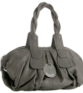 charcoal leather 'Cala' large bag