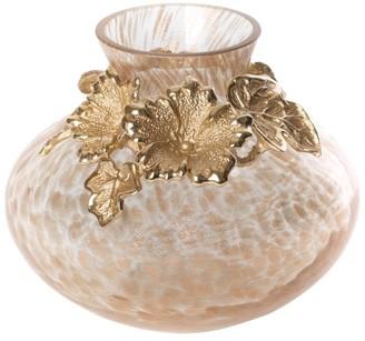 Jay Strongwater Holland Leaf & Flower Gilded Vase