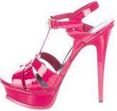 Saint Laurent Patent Tribute Sandals