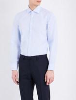 Turnbull & Asser Slim-fit micro dot cotton shirt
