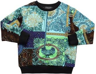 Versace Baroque Print Cotton Sweatshirt