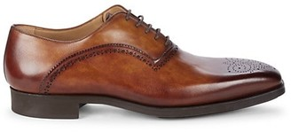 Magnanni Prescott Cuero Burnish Leather Oxfords