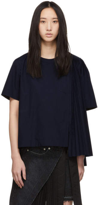 Sacai Navy Shirting Blouse