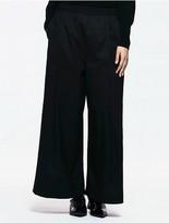 Calvin Klein Platinum Twill Stretch Wide Leg Pants