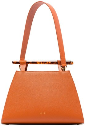 Usisi Johnny saffiano leather shoulder bag