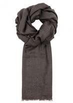 Corneliani Taupe Cashmere And Cotton Blend Scarf