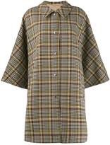 MACKINTOSH Mintlaw checked pattern coat